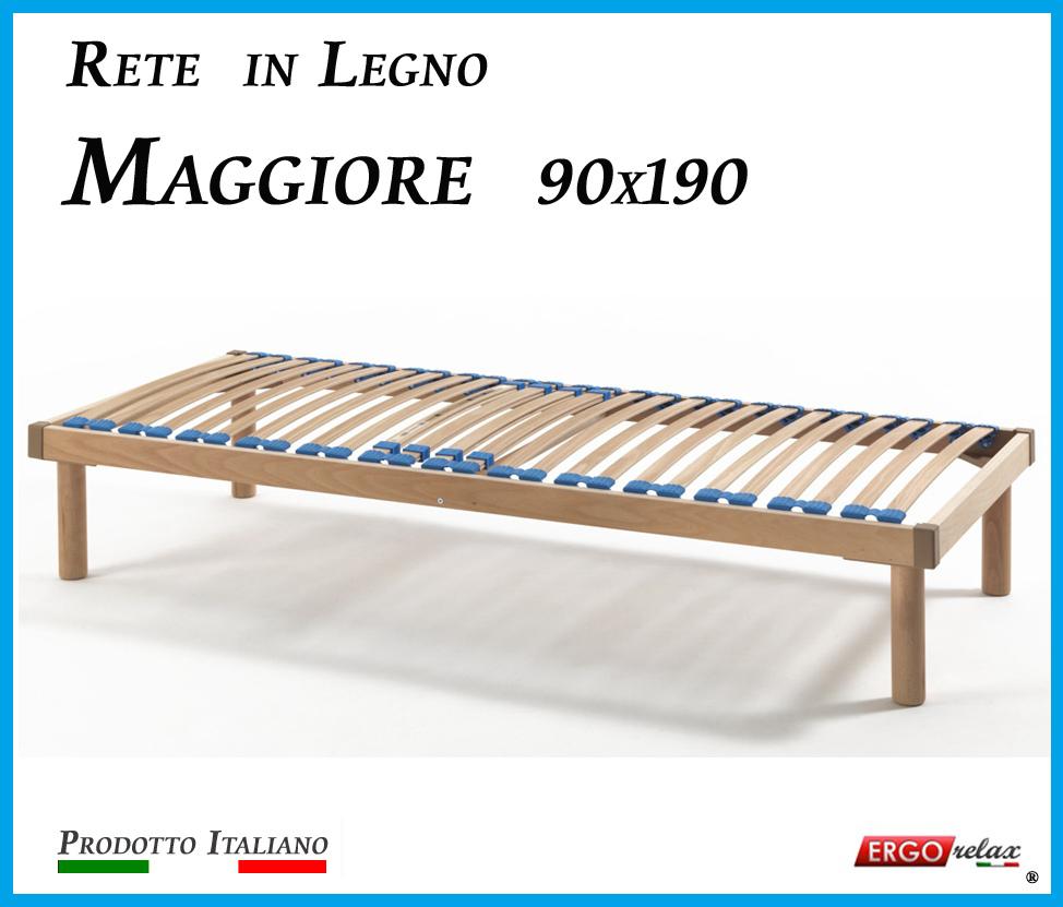 Rete in Legno Maggiore con 26 Doghe di Faggio e Regolatori Rigidità 90x190
