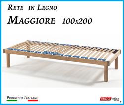 Rete in Legno Maggiore con 26 Doghe di Faggio e Regolatori Rigidità 100x200