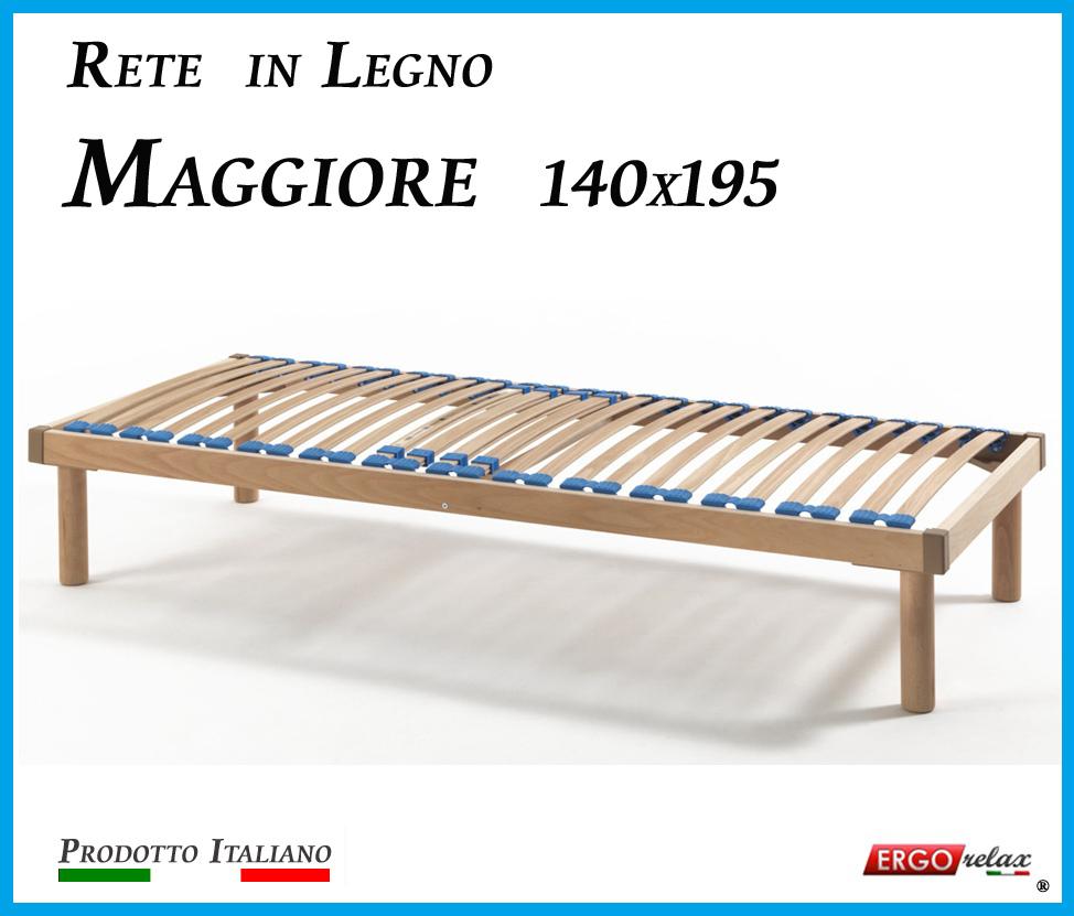 Rete in Legno Maggiore con 26 Doghe di Faggio e Regolatori Rigidità 140x195
