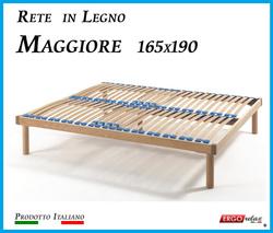 Rete in Legno Maggiore con 26 Doghe di Faggio e Regolatori Rigidità 165x190