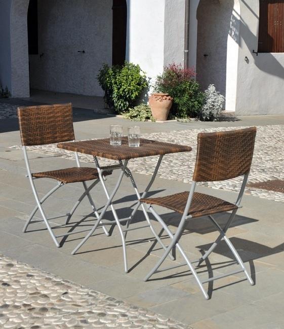 Set 3 pezzi 2 sedie 1 tavolo quadrato pieghevole da for Amazon arredo giardino