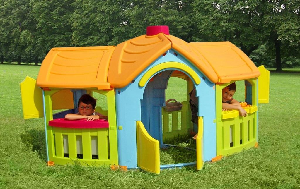 Casa Casetta In Plastica Per Bambini Da Esterno 110 Cm Giardino Esterni Bimbi