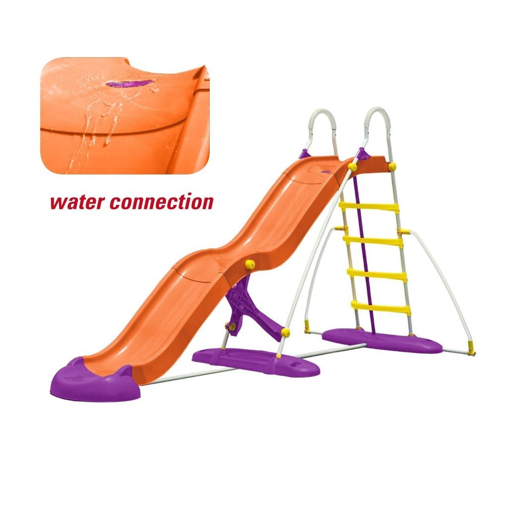Scivolo in Plastica e Metallo MAXI NEW PLAST Lunghezza 365 cm New Plast SC1338 con onda e gioco acqua
