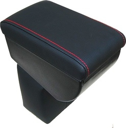 Adjustable armrest for Nissan Juke with colored stitchings
