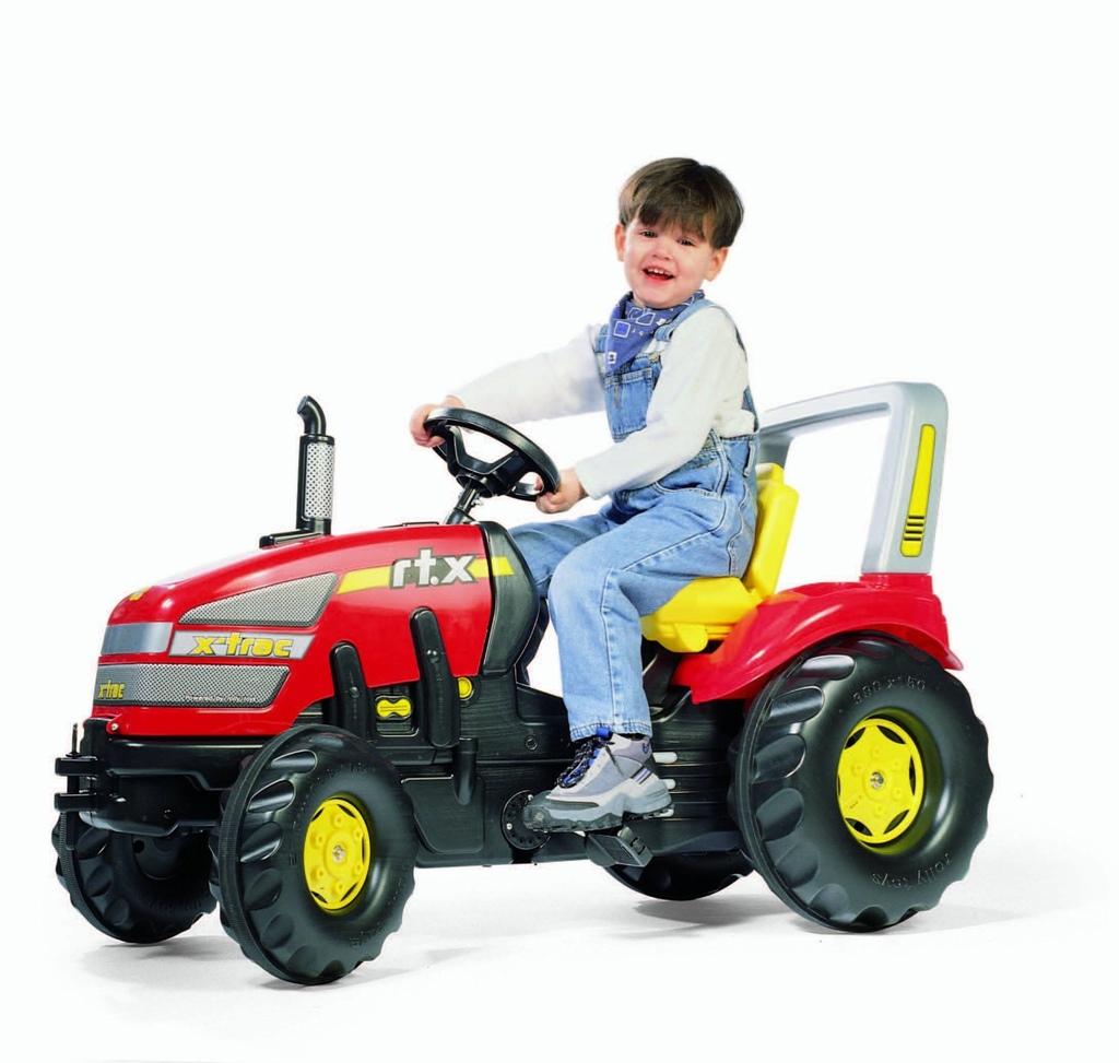Trattore a pedale per bambini Rolly Toys trattore 035557 X-Trac rtx rosso 120cm