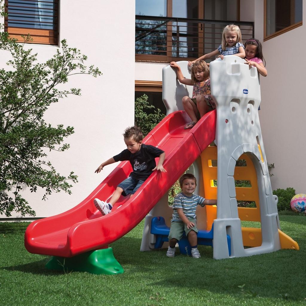 Scivolo Per Bambini Da Giardino Chicco By Mondo 30002 Scivolo Toboga A Forma Di Castello Chicco 30002