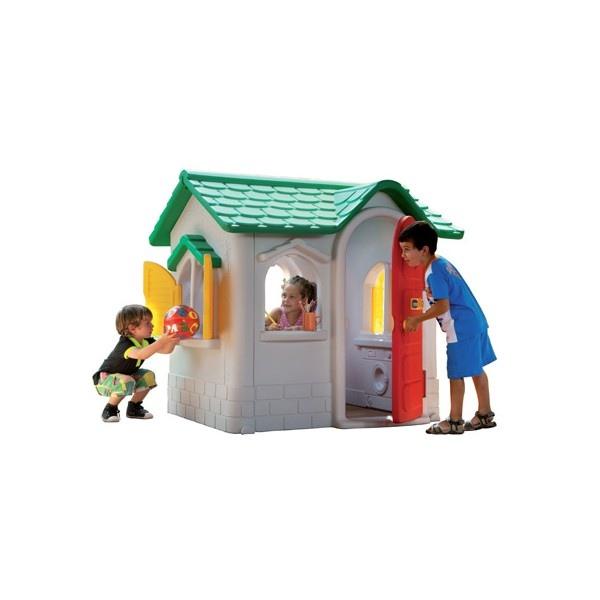 Casetta per bambini da giardino in plastica chicco by for Grande casetta per bambini
