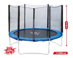 Tappeto Elastico da giardino per bambini SPORT ONE Tappeto elastico Action con rete di protezione Forma Garden 504216