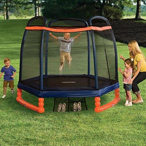 Tappeto elastico da giardino per bambini Trampolino 2 metri LITTLE TIKES 9062311 PER BIMBI BAMBINI con protezioni