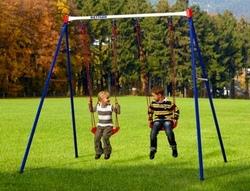 ALTALENA BASIC 2 da giardino per bambini in metallo doppia con due seggiolini a tavoletta KETTLER COD.8383-100 Kettler 8383-100 Altalena basic 2 sedili