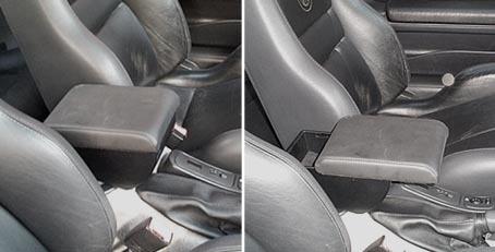 Adjustable armrest with storage for Alfa Romeo GTV Phase 1