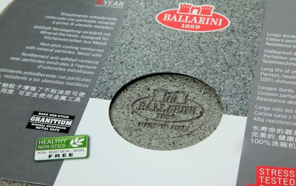 Wok cm 26 piccola Granitium CORTINA Ballarini antiaderente cuore di pietra