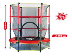 Tappeto elastico da giardino per bambini FORMA SRL GARDEN 140 - tappeto elastico con rete e protezioni d.140 504209