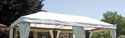 Telo ricambio per Gazebo quadro 3 x 6 copertura impermeabile 3 x 6 modello cop 063