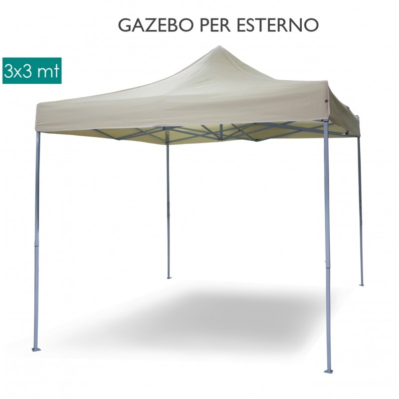 Gazebo ROBUSTO con teli impermeabile per mercatini mercato bancherelle esposizione sagre 3 x 3 MARCOS33