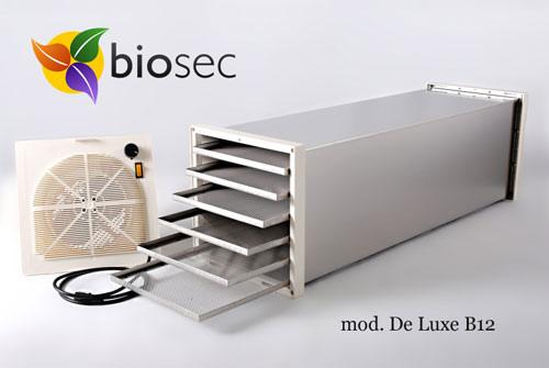 Essicatore Essiccatore BIOSEC DE LUXE B 12 INOX 12 cestelli in acciaio12 TAURO + OMAGGIO 6 fogli DrySilk