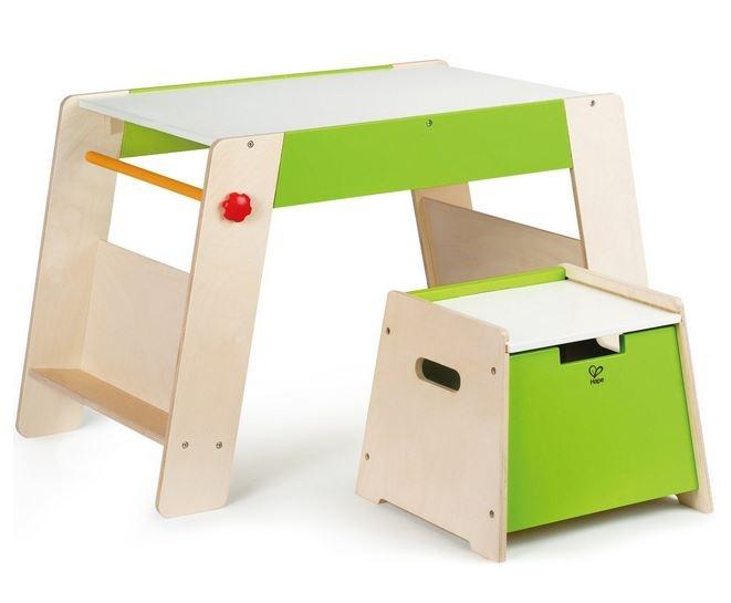 Tavolino multifunzione gioco disegno con sgabello in legno hape