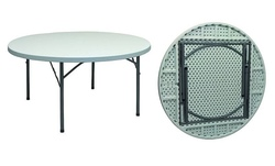 Tavolo rotondo gambe pieghevoli PIANO FISSO per catering diam 180 pieghevole per catering e feste