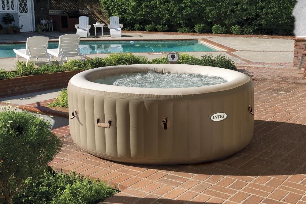 Idromassaggio 28404 pure spa bubble therapy con pompa intex 28404 bubble spa 191 x 71 cm - Piscina jacuzzi da esterno ...