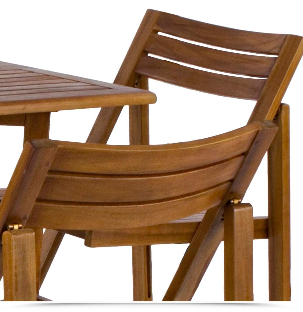 Tavoli Pieghevoli In Legno.Set Legno Acacia Salvaspazio Chiudibile Set Compatto Legno Tavolo E 4 Sedie Pieghevoli