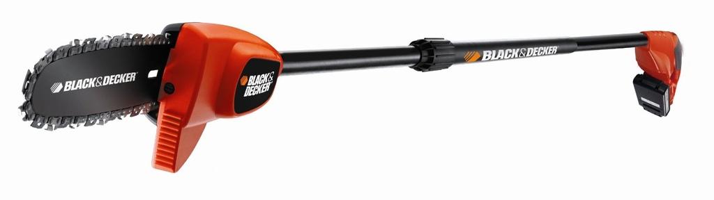 Tagliarami Elettro Sega allungabile da potatura a Batteria agli ioni di litio, lunghezza barra: 20 cm GPC1820L20 Black & Decker 18 V/2,0 Ah