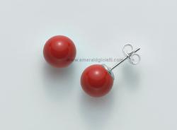 PER2324 Orecchini Miluna con Corallo Rosso