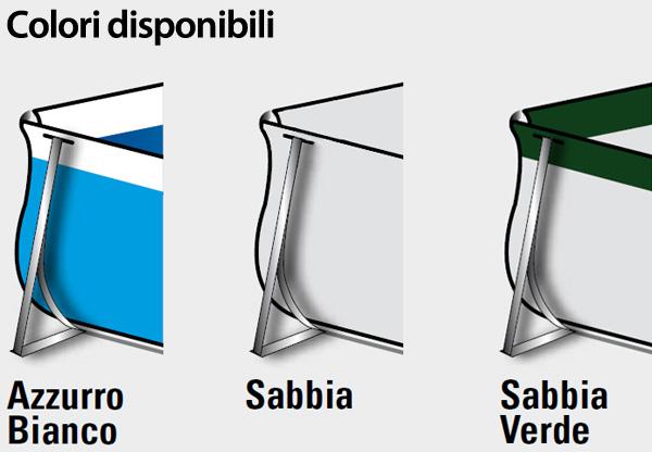 Piscina Fuori Terra da Esterno Rettangolare New Plast DIVA 400 KIT SABBIA dim 390x220x100 CON POMPA a SABBIA COD.4006K NEW PLAST