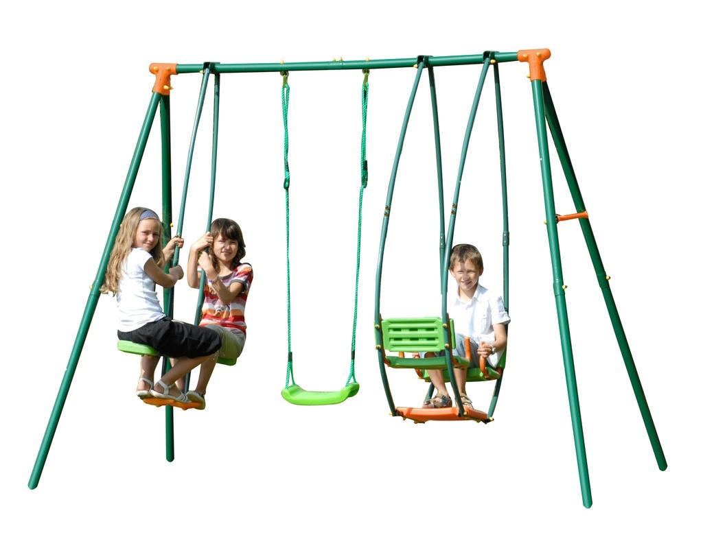 Altalena A Dondolo.Altalena Per Bambini Da Giardino In Metallo Fenice Con Dondolo E Cavalluccio