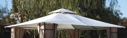 Telo ricambio  per Gazebo SAGRES Telone  beige telo di ricambio con bordo per gazebo gazebi mt. 3,4 x3,4 in SAGRES-RIC