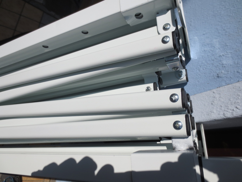 Gazebo ROBUSTO con telo impermeabile per mercatini mercato bancherelle esposizione sagre 3 x 4,5 MARCOS34