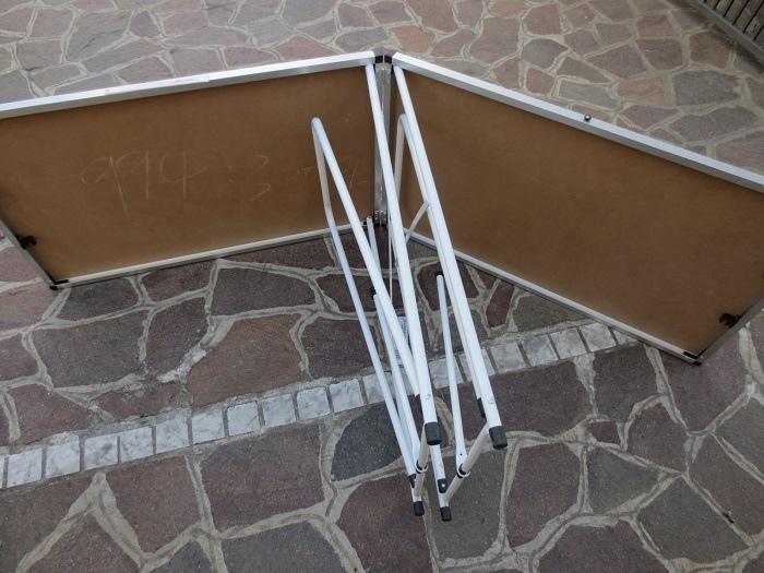 Tavolo pieghevole 200 x 60 in alluminio per mercatini buffet lavoro