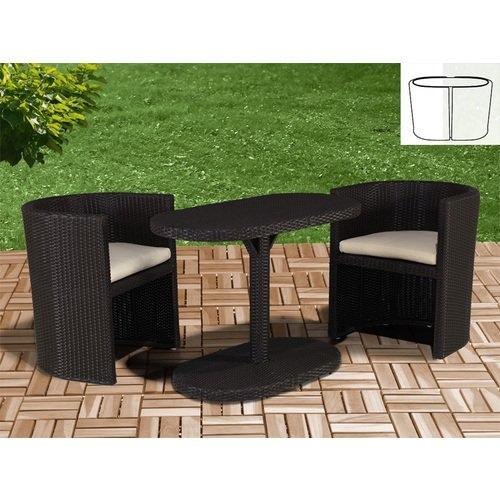 Salotto da giardino in polyrattan col marrone mod for Tavolo marrone scuro
