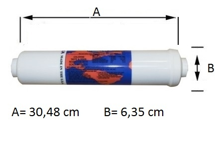 "Omnipure K5686-BB Filtro in Linea 12"" Gac+Polifosfati."