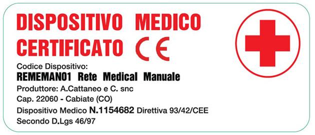 Rete Manuale Regolabile Medical a Doghe di Legno da Cm. 120x190/195/200 Presidio Medico Prodotto Italiano