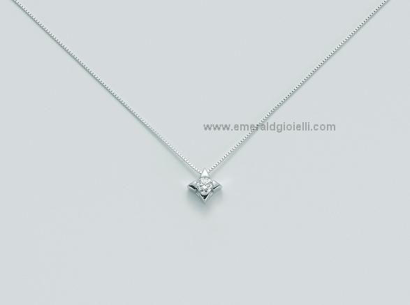 CLD2937 009S Girocollo Miluna Punto Luce con Diamante -