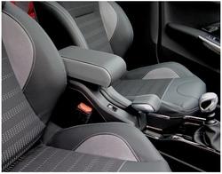 Bracciolo BICOLORE regolabile per Peugeot 2008 + cuciture colorate + cerniera ricoperta