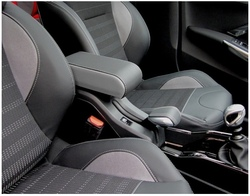 Bracciolo BICOLORE regolabile per Peugeot 2008 (2013-2019) + cuciture colorate + cerniera ricoperta
