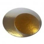 Vassoio rotondo bicolore argento/oro cm 34
