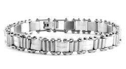 ST3048 Bracciale Uomo Acciaio e Ceramica Thiago gioielli -