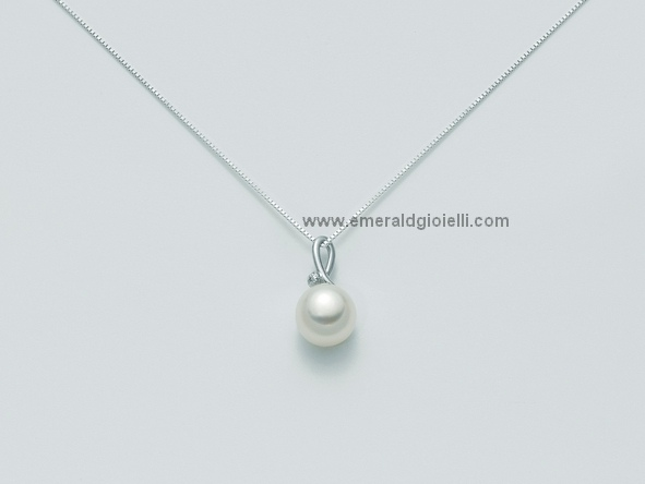 PCL1877x Girocollo Miluna con Perla e Diamante -