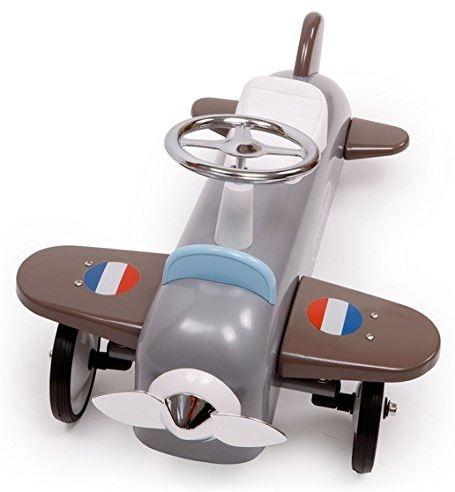 """Cavalcabile in Metallo """"Aeroplano grigio"""" per Bambini della Linea Speedsters di Baghera 878"""