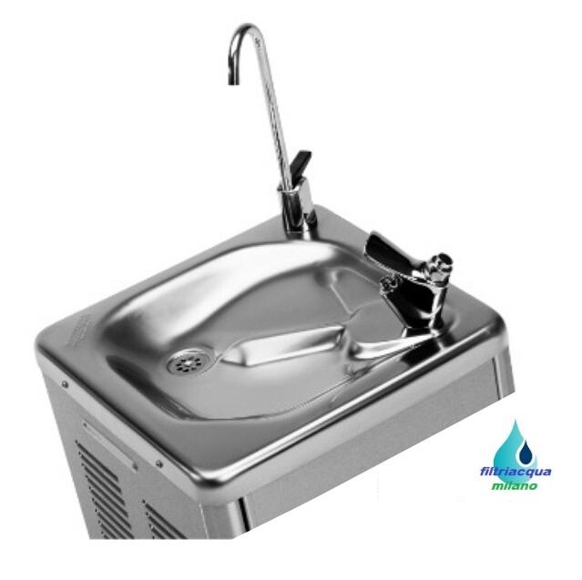 Fontanella refrigerata per laboratori,luoghi pubblici e fabbriche.