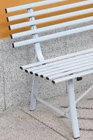 Panca da giardino GALLIPOLI panchina esterno 3 posti 150x58 struttura ferro avorio