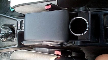 Adjustable armrest with storage for BMW Series 5 E34