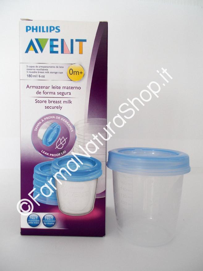 AVENT Vasetti Conservalatte da 180 ml