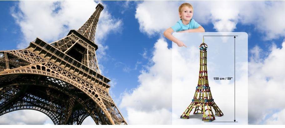 """Set Costruzioni da 1354 pezzi Mega Structures """"Torre Eiffel"""" di Engino"""