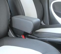 Bracciolo con portaoggetti per Smart ForTwo - ForFour New in tessuto nero