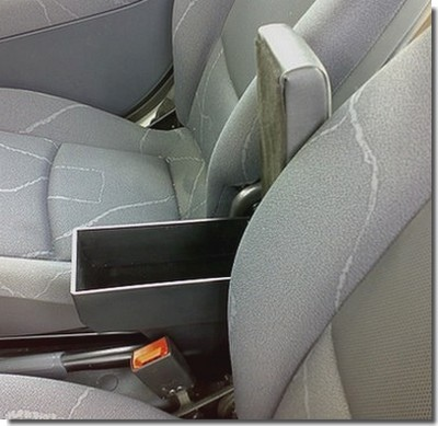 Adjustable armrest with storage for Peugeot 107