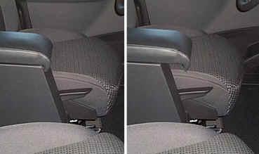 Adjustable armrest with storage for Peugeot 807