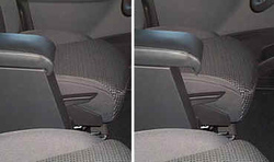 Armrest with storage for Citroen C8